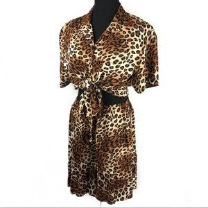 Vintage 90's leopard shorts two piece outfit